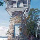 Spindle Point Lighthouse on Lake Winnipesaukee, Meredith NH. Photograph by Ken Williams.